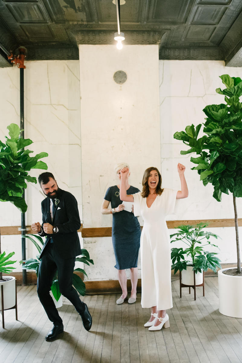Hip Plant Filled Wedding at Headlands Center for the Arts