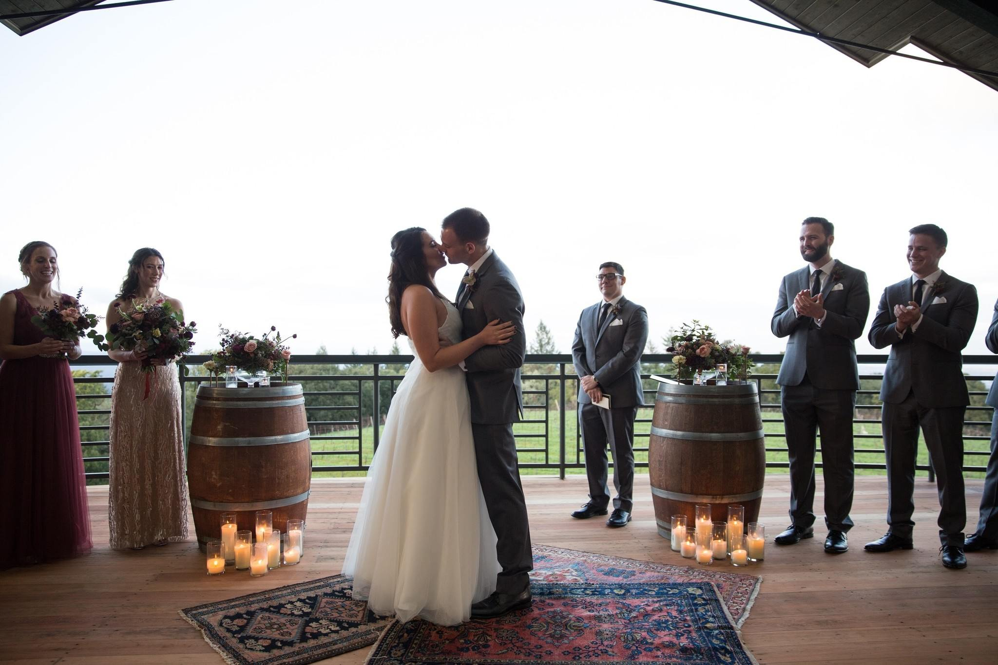 Intimate Fall Wedding at Thomas Fogarty Winery