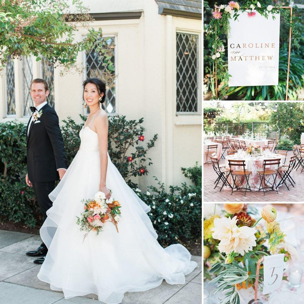 Peach and Copper Garden Inspired Wedding in Los Altos