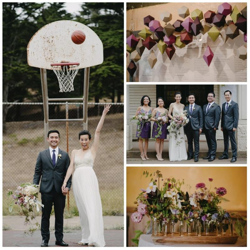 Artsy Ultra Violet Wedding with DIY Geometric Details