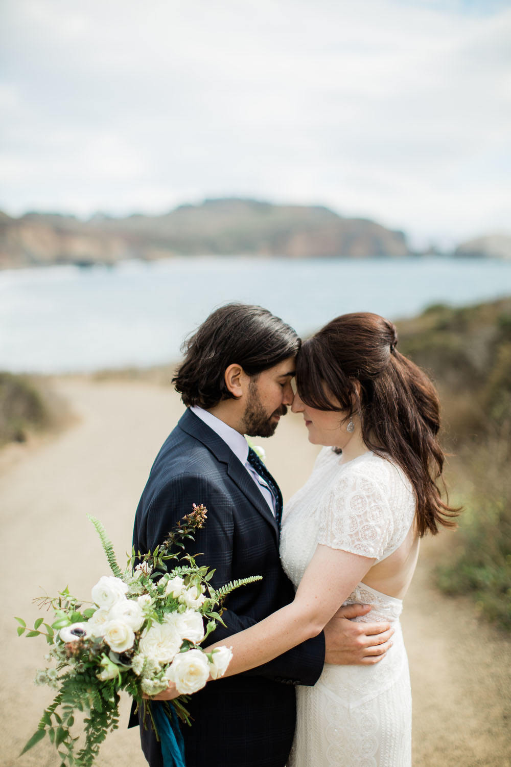 Modern White and Green Wedding at Headlands Center for the Arts