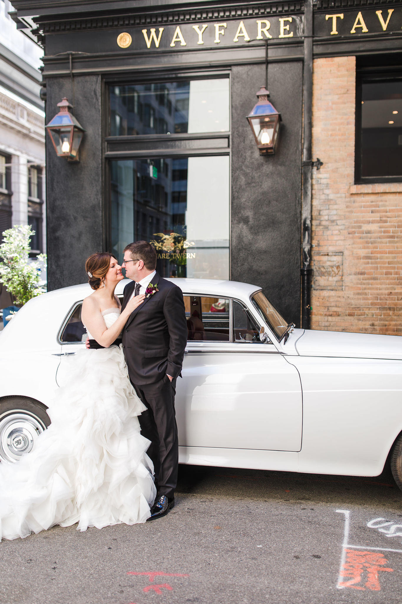 Chic Black and White Stripe Motif Wedding at Wayfare Tavern