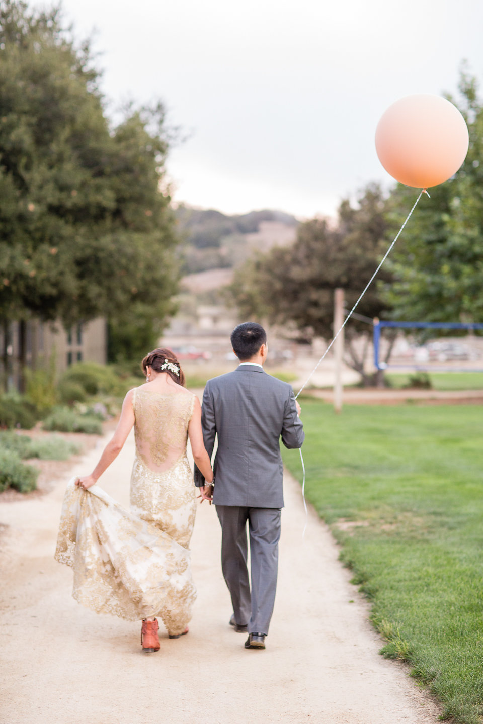 Romantic Blush and Gold Santa Lucia Preserve Wedding
