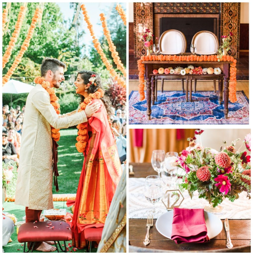 Colorful Indian-Jewish Fusion Wedding